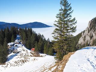 Winterwanderung in den Bayerischen Bergen