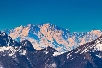 Fotobehang Alpen Monte rosa on the italian alps