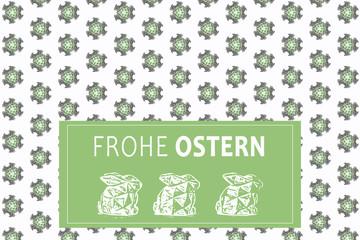 Frohe Ostern Pattern