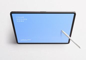 Tablet Pro Tilted Mockup