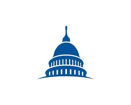 Capital government building logo
