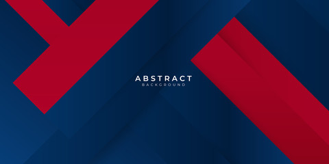 Red gradient blue box rectangle abstract background vector presentation design Wall mural