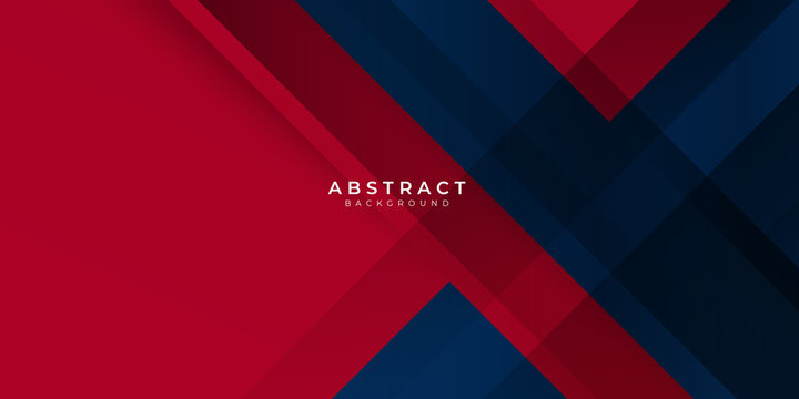 Red gradient blue box rectangle abstract background vector presentation design