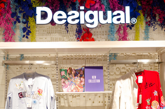 Soest, Germany - January 9, 2019: Desigual clothes in the store.