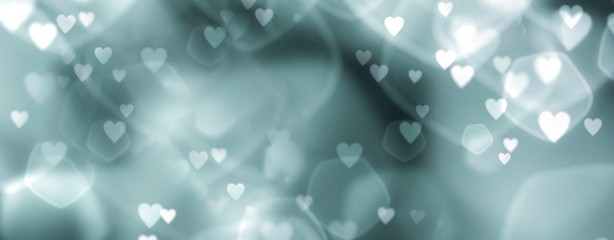 Fototapete - abstract background with hearts