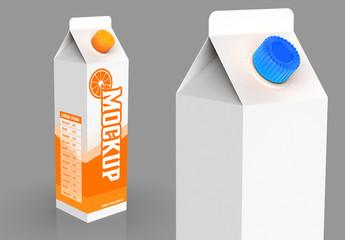 1-Liter Carton Mockup