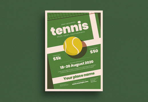 Tennis Tournament Event Flyer Layout