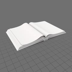 Open hardcover book