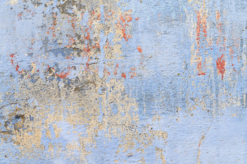 Blue old grungy concrete wall