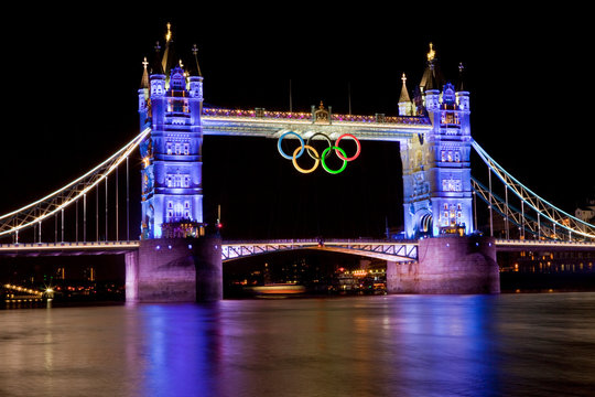 Tower Bridge and Olympic Rings for London 2012