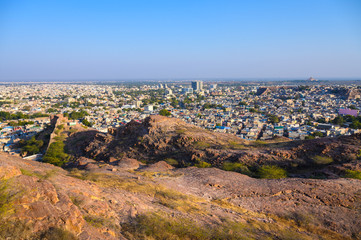 Cityscape view of Jodhpur city in Rajasthan state, India