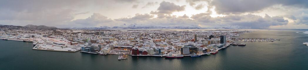 Bodø city in January Fototapete