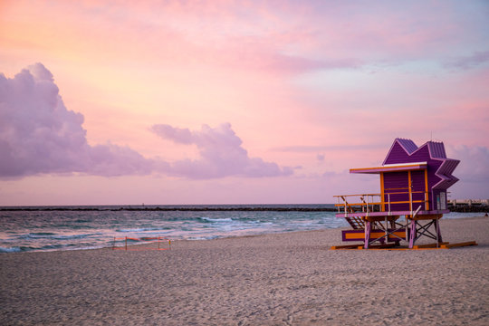 Art Deco lifeguard houses at South Beach