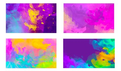 Fotobehang - set of abstract painting banners