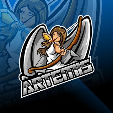 Artemis esport mascot logo design