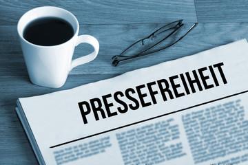Eine Zeitung und Pressefreihet