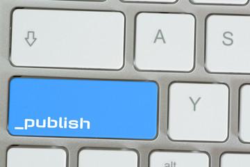 Computer und Taste Veröffentlichen