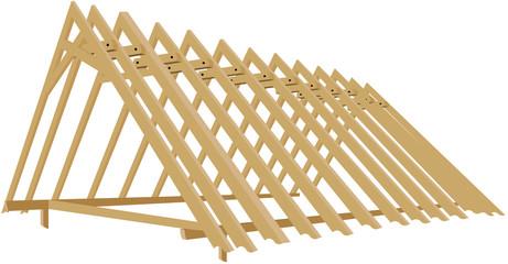 Roof truss -wooden skeleton-roof frame-framework of timbers