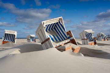 Fotobehang Noordzee Strandkorb