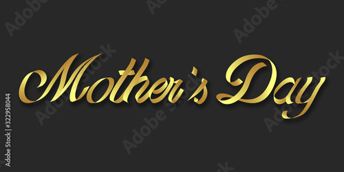mother's day hand drawn lettering phrase illustration