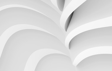 Fotobehang - Modern Architecture Graphic Design. Minimal Building Construction