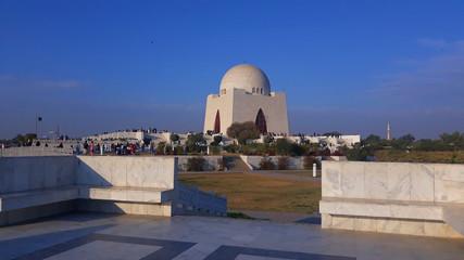 Karachi, Pakistan - February 10, 2020: Mausoleum of Quaid-e-Azam. Tomb of quaid-e-Azam. Mazar-e-Quaid. Fototapete