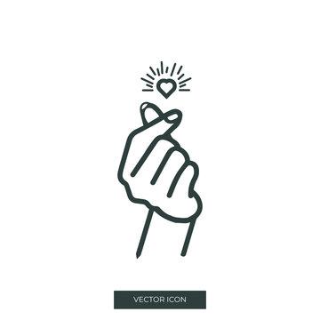 Finger sound icon design
