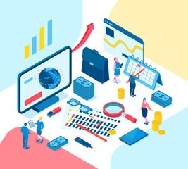 Accounting Isometric Illustration