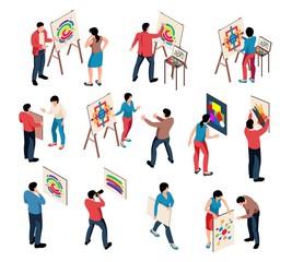 Isometric Artist Exhibition Set