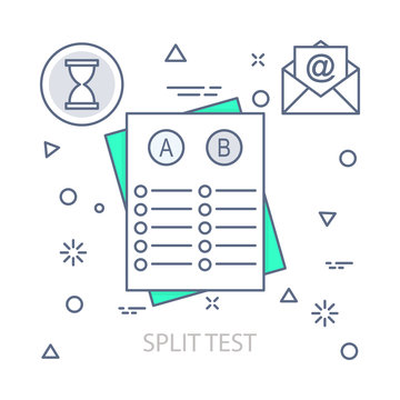 Split Test vector illustration flat design concept. EPS 10 File