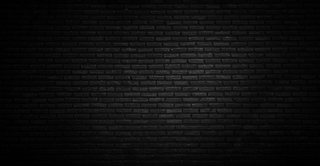 black texture with brick wall for background website or brickwork for design Wall mural