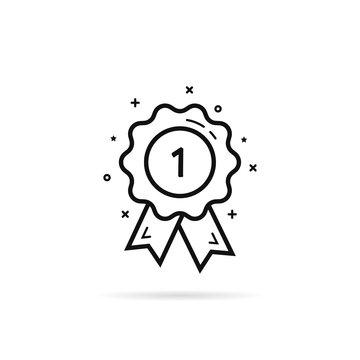 thin line award medal like 1st icon