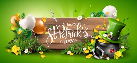 Obraz St. Patrick's Day header or banner - fototapety do salonu