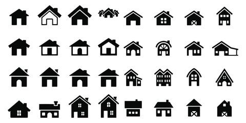 house icon set Vector illustration white background