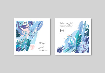 Layout Set of Gentle Floral Cards