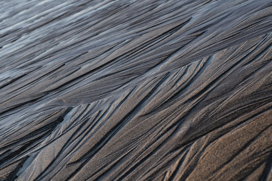 Icelandic black sand beach