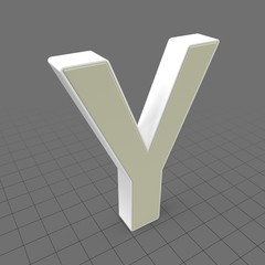 Letters Simple Y