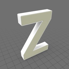 Letters Simple Z