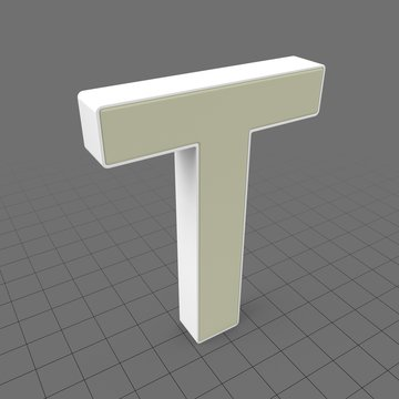 Letters Simple T
