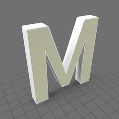 Letters Simple M