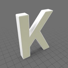 Letters Simple K