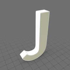 Letters Simple J