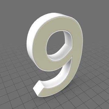 Letters Simple Nine