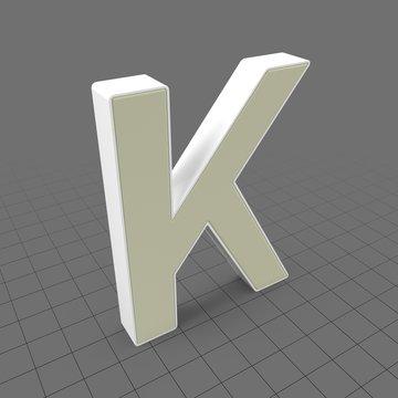 Letters Simple K