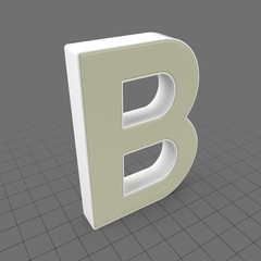 Letters Simple B