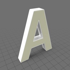 Letters Simple A
