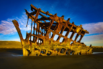 Photo sur Plexiglas Naufrage Peter Iredale Wreckage