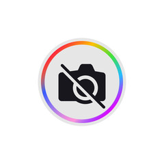 No Camera -  Modern App Button