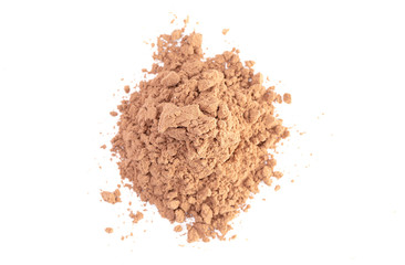 A Chocolate Protein Powder Shake Isolated on a White Background