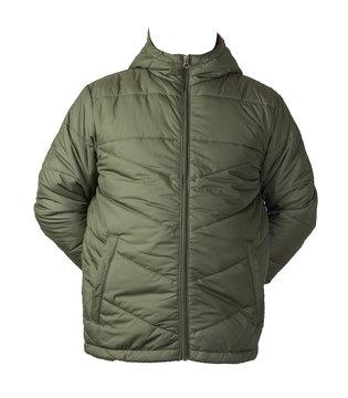 Men's jacket in a hood isolated on a white background. Windbreaker jacket